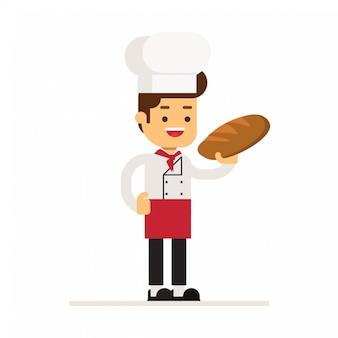 Homme personnage avatar icon.breads