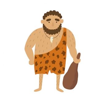 Homme primitif de l'âge de pierre
