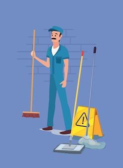 Homme produits de nettoyage et fournitures