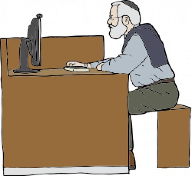 Homme qui travaille sur l'ordinateur