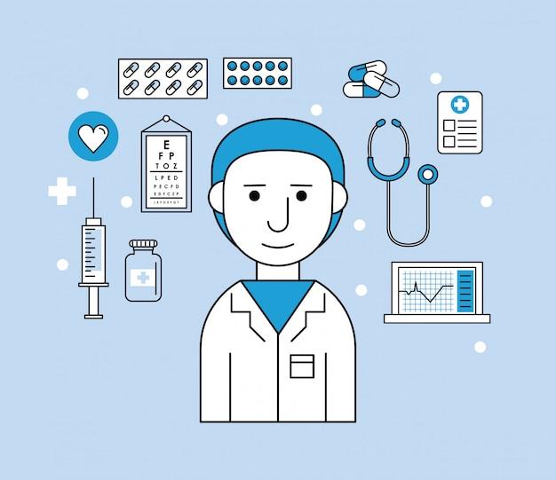 Homme recherche médicale