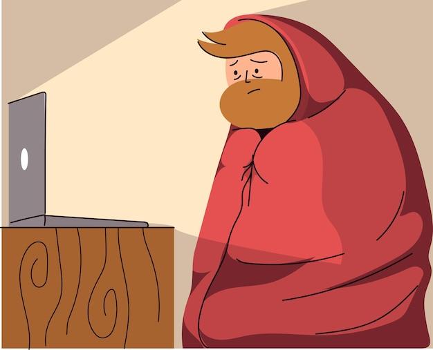 Homme regardant la télé