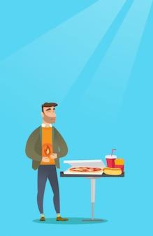 Homme souffrant de brûlures d'estomac