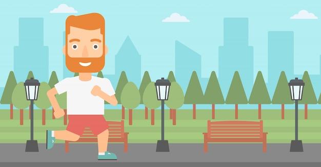 Homme sportif jogging.
