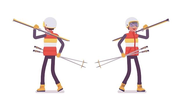 Homme sportif portant de l'équipement