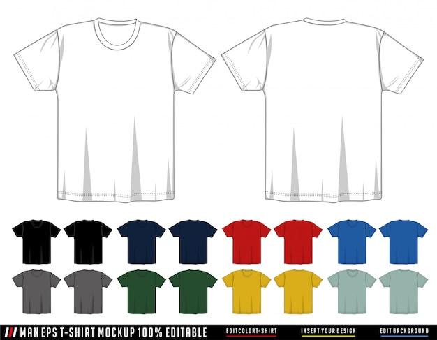 Homme t-shirt couleur définie