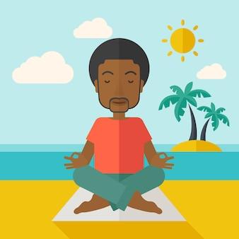 Homme de yoga