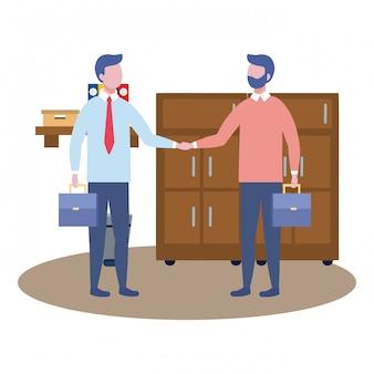 Hommes d'affaires avatar de dessin animé