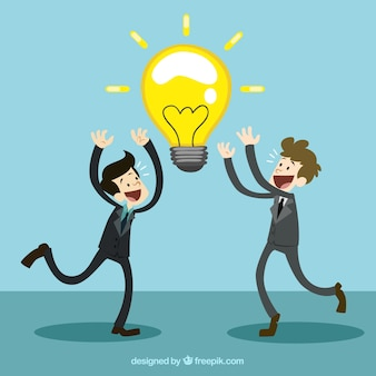 Les hommes d'affaires avec une bonne idée