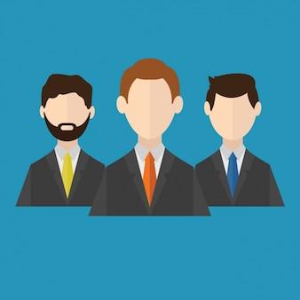 Les hommes d'affaires de conception d'icônes