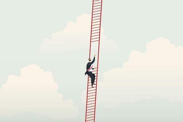 Les hommes d'affaires manquent d'opportunités d'inégalité des affaires de croissance de carrière