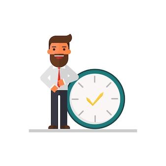 Les hommes d'affaires occupent les temps.