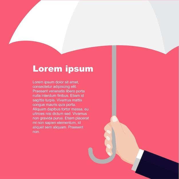 Hommes d'affaires avec parapluie