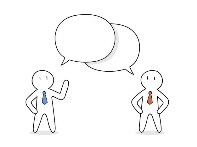 Les hommes d'affaires parlent le design