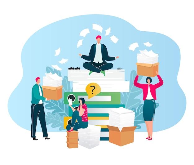 Les hommes d'affaires posent des questions d'audit, des questions, des conseils financiers pour les entreprises isolées