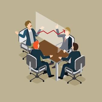 Hommes d'affaires rencontrant avec succès