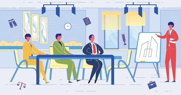 Hommes affaires, réunion