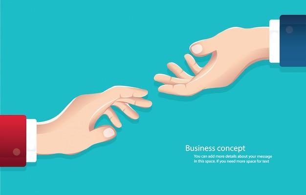 Hommes d'affaires se serrant la main de vecteur