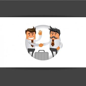 Les hommes d'affaires se serrant la main