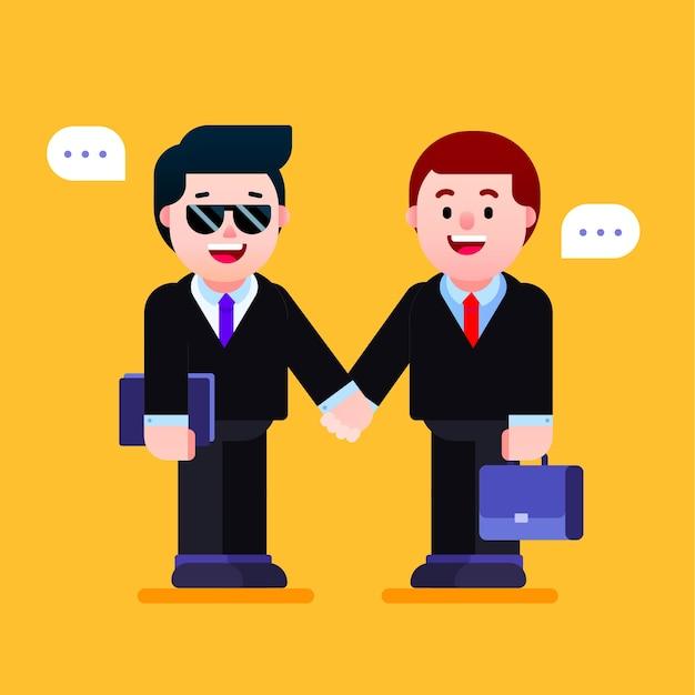Hommes d & # 39; affaires se serrant la main