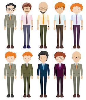 Hommes d'affaires en tenue de soirée
