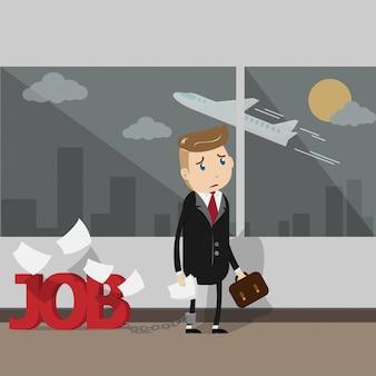 Les hommes d'affaires très occupés ont besoin de vacances pour partir en vacances.
