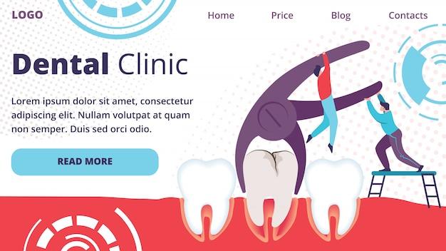 Hommes extraire la dent avec le trou de la carie à l'aide d'une pince.