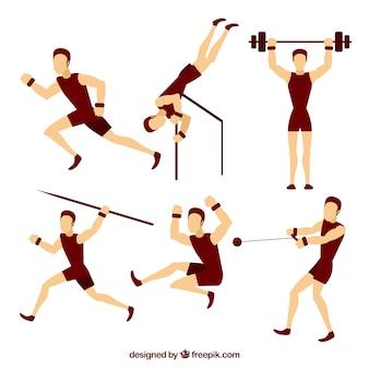 Hommes faire du sport