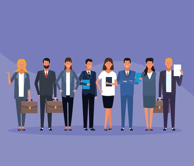 Hommes et femmes d'affaires