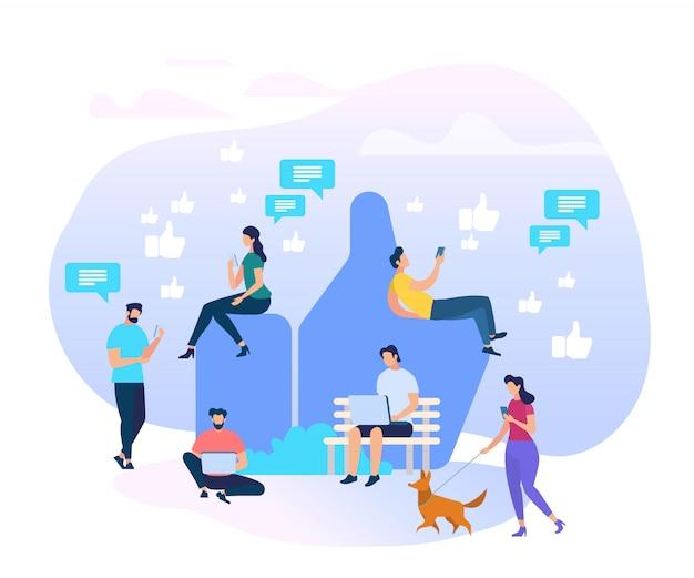 Hommes et femmes caractères communication sur internet