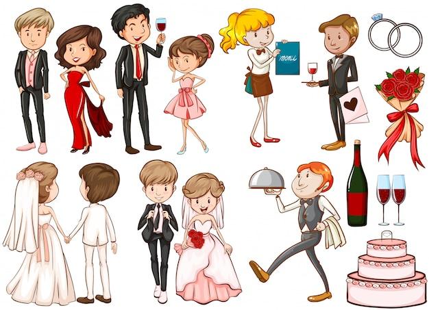 Hommes et femmes à la fête