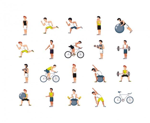 Hommes isolés, faire du sport