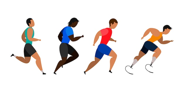 Hommes de jogging.