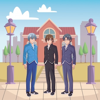 Hommes manga anime