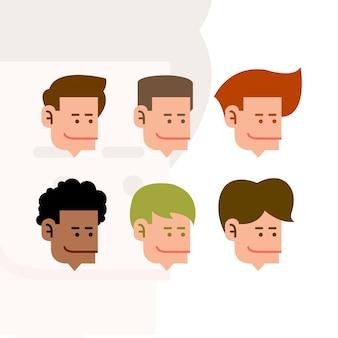 Hommes tête cartoon