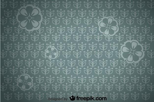 Homogène rétro floral vignette fond