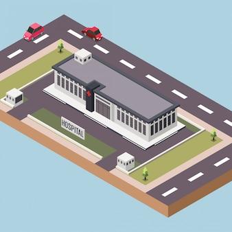 Hôpital ou centre médical dans une ville