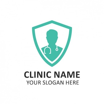 Hôpital turquoise logo template