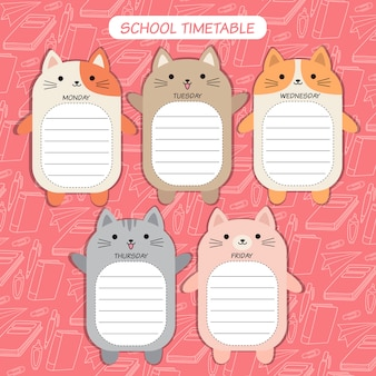 Horaire chat