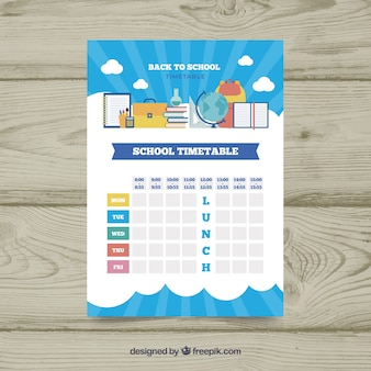 Horaire scolaire moderne