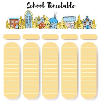 Horaires de l'école retour à l'école.