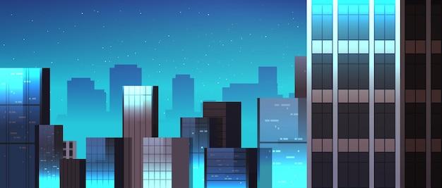 Horizon des bâtiments de la ville la nuit illustration