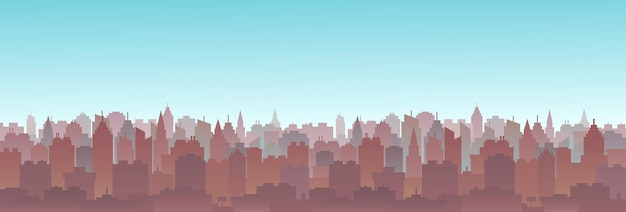 Horizon de paysage urbain