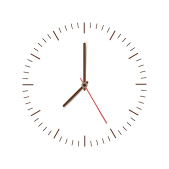 Horloge sur blanc