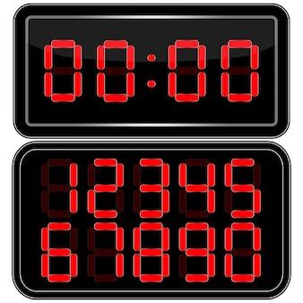 Horloge digitale . numéro uhr numérique. illustration vectorielle