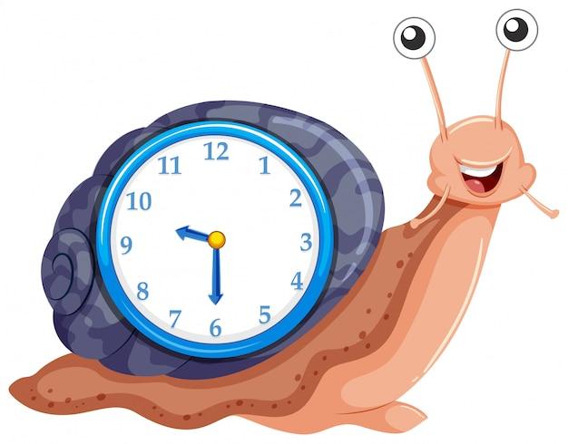 Horloge avec modèle d'escargot