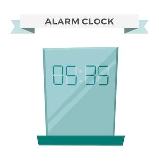 Horloge montre alarme icône illustration