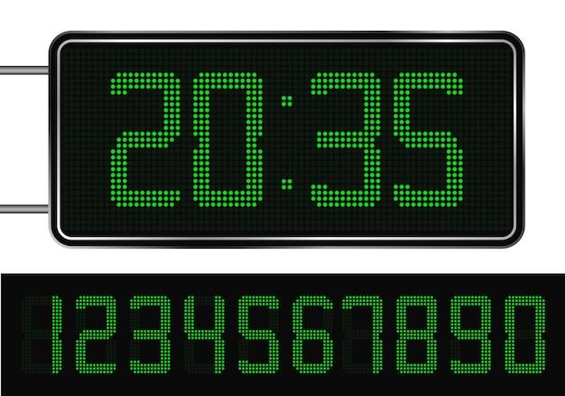Horloge numérique et chiffres