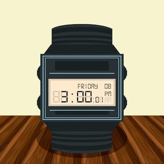 Horloge numérique sur la table