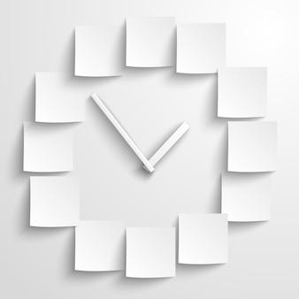 Horloge papier abstraite